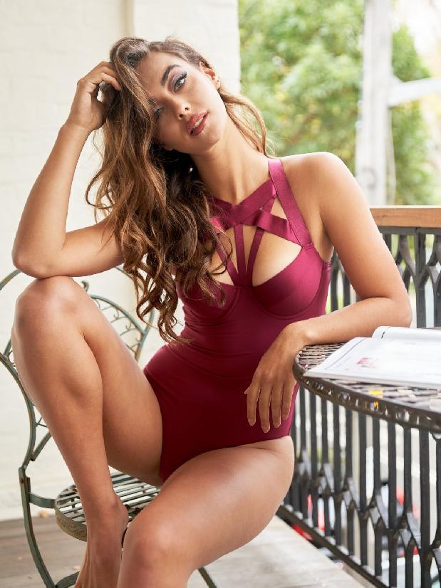 Lunalae Scarlett Bodysuit Recycled - Burgundy
