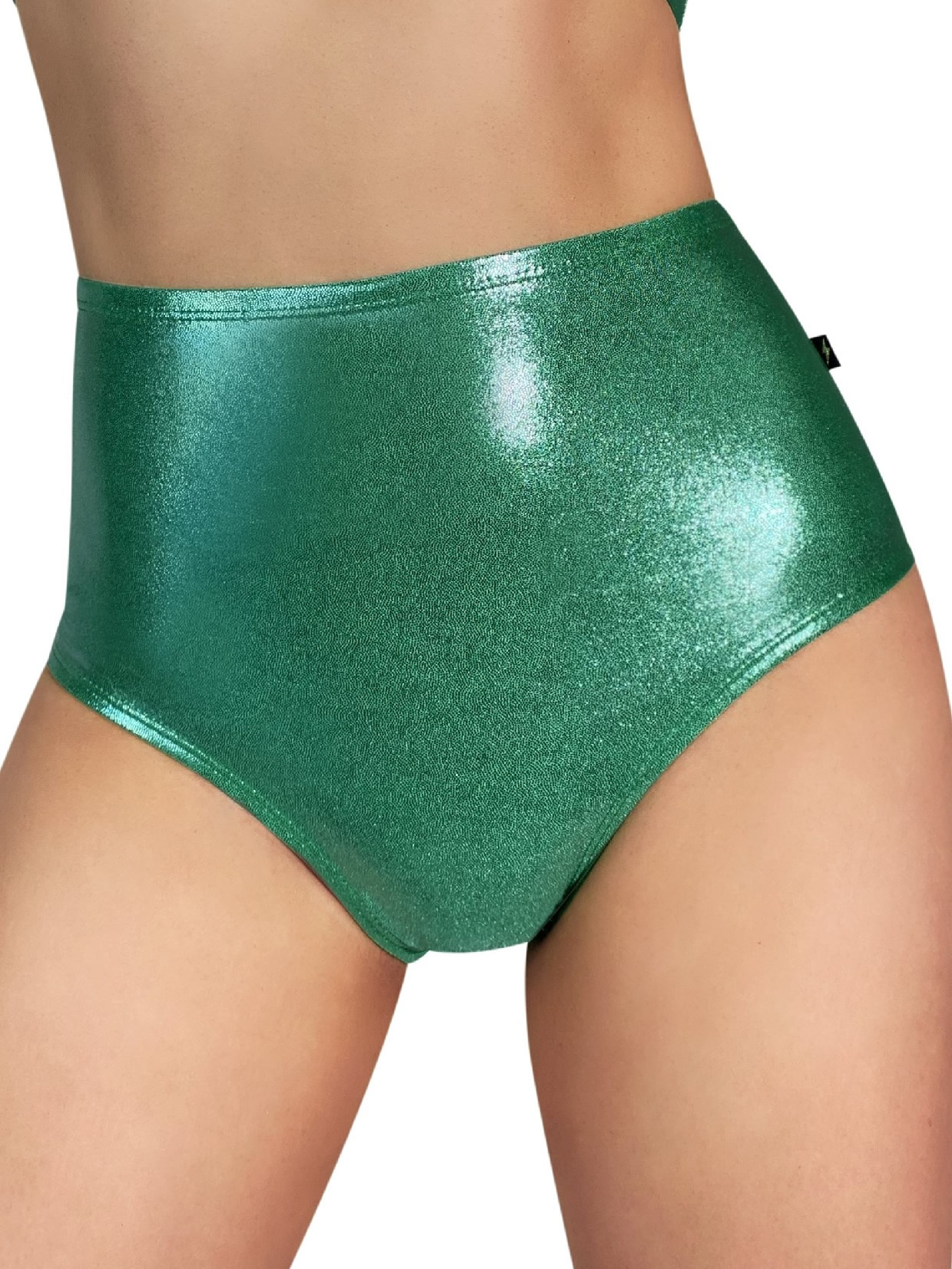 Cleo The Hurricane Metallic High Waisted Hot Pants - Mint Green