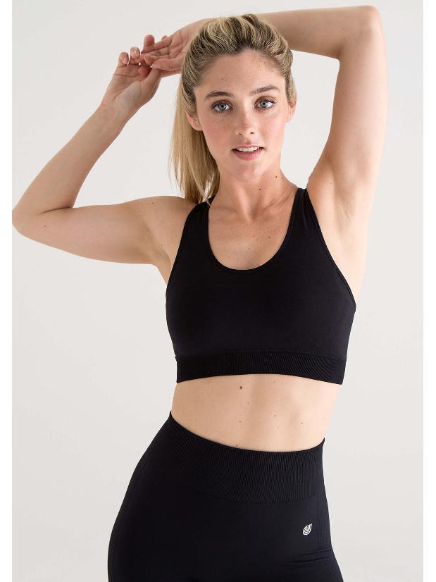 Jilla Active Deep Crescent Sports Bra - Black