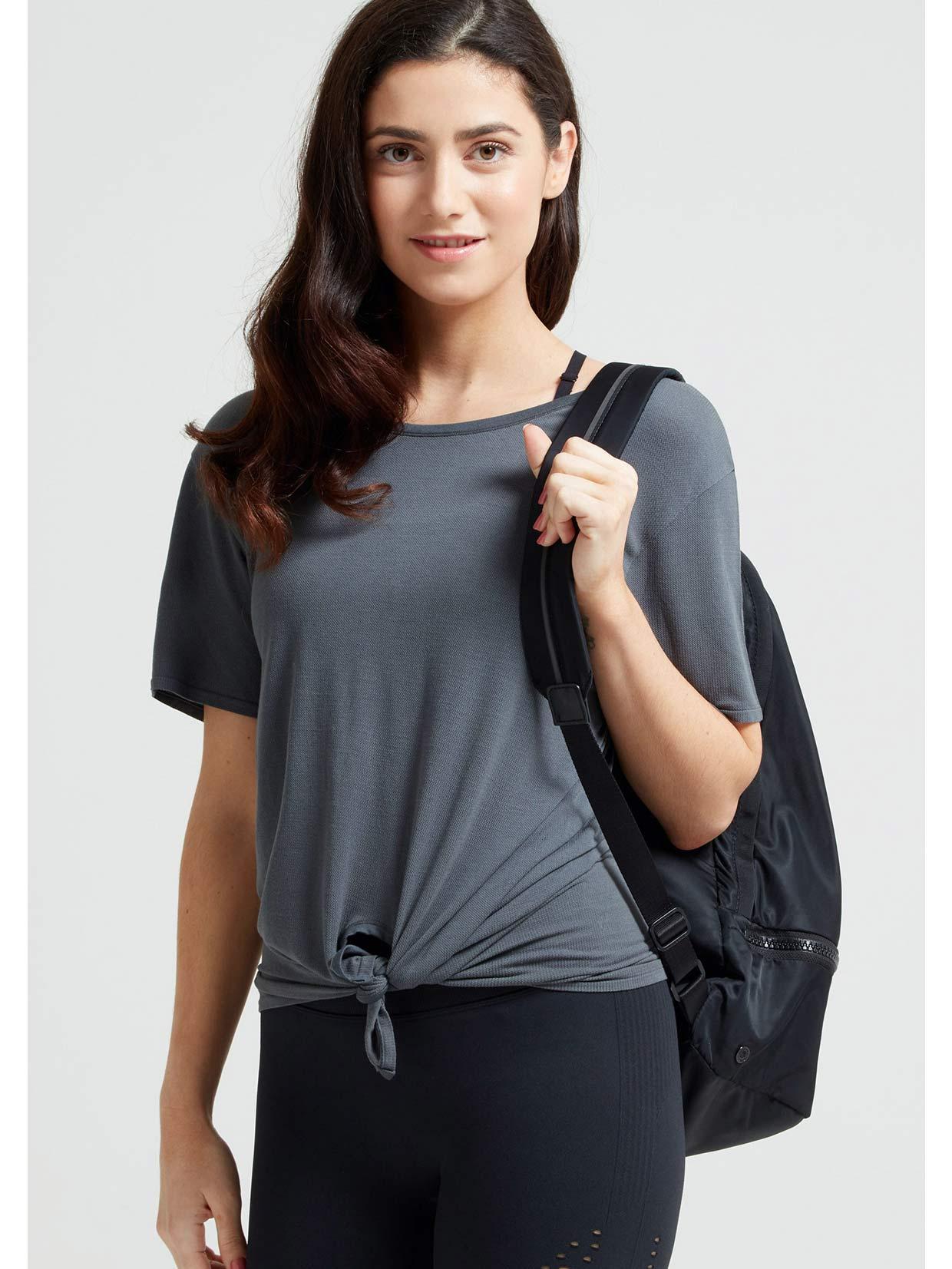 Jilla Active Easy Breezy Tie Bamboo T-Shirt - Grey