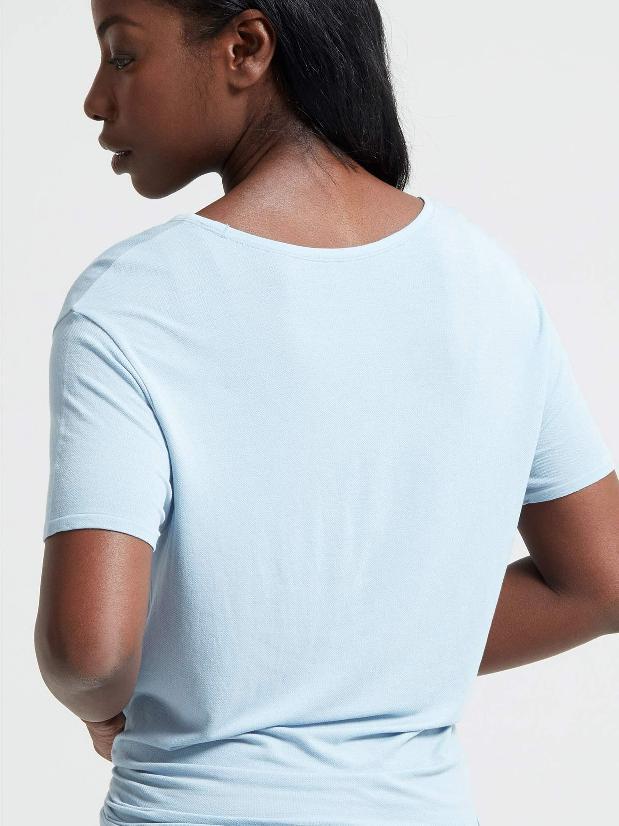 Jilla Active Easy Breezy Tie Bamboo T-Shirt - Light Blue