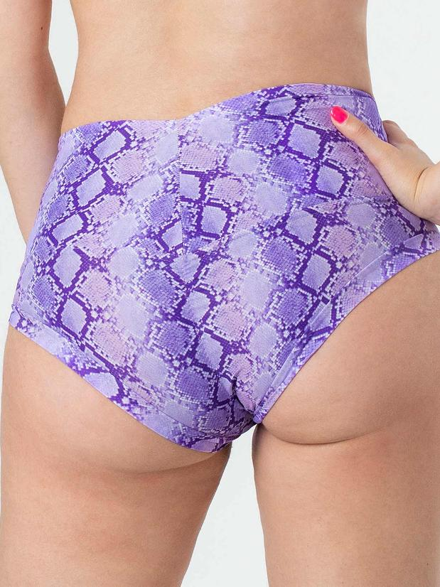 Posto9 - Camila Shorts - Purple Cobra - Tanit Ibiza
