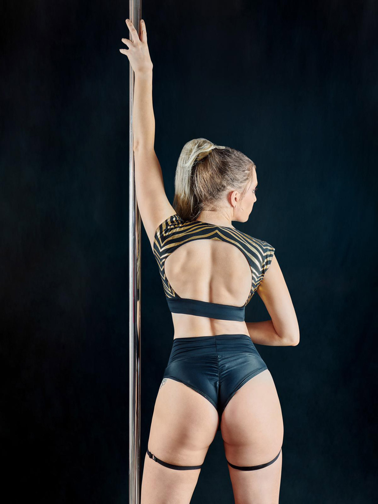 Posto9 - Carina Shorts - Black Garter