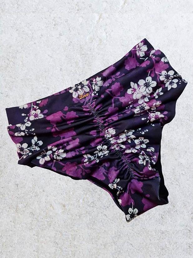 Sapphire Hot Pants - Purple Haze High Waisted Bottoms