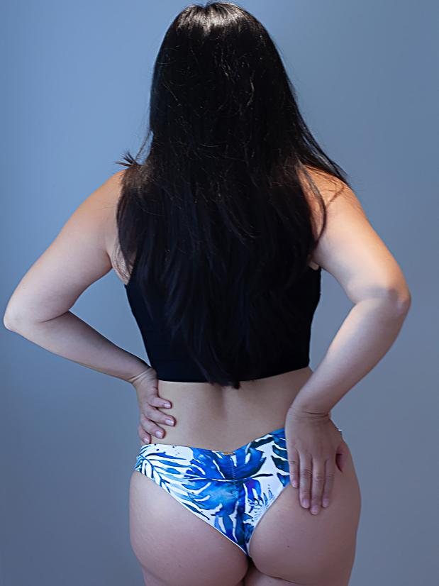 Sapphire Hot Pants - Blue Delight Low Waisted Bottoms