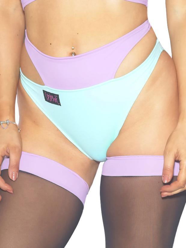 Wink Intimates Shorts - Mint/Lavender