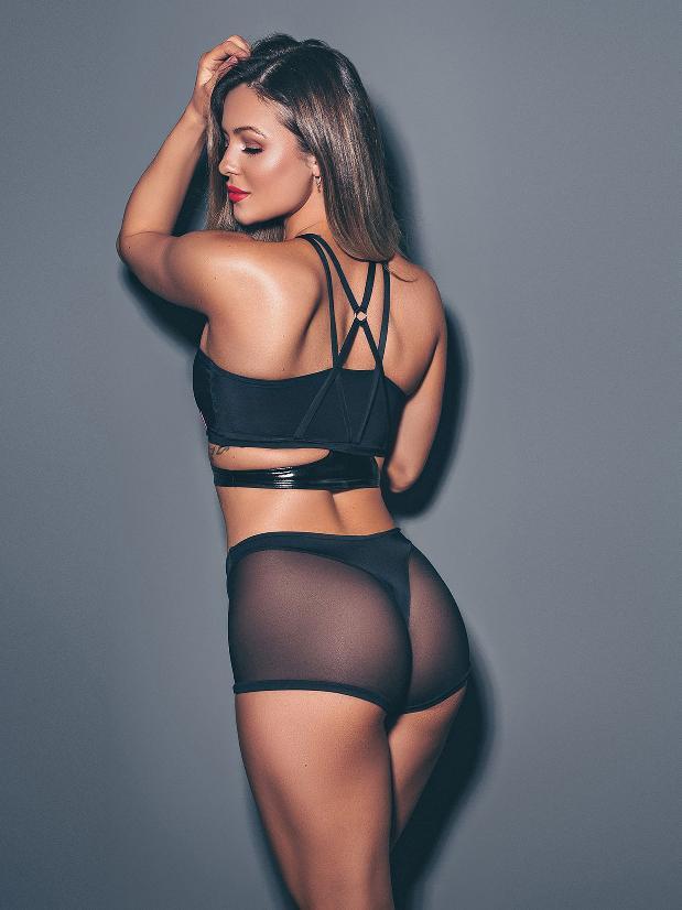 Wink Intimates Thong Shorts - Black