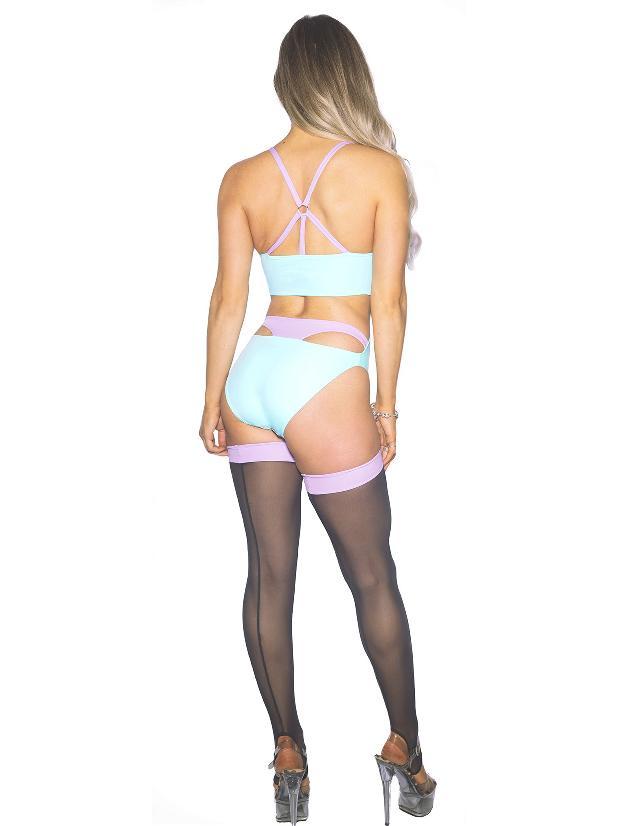 Wink Intimates Monokini - Mint/Lavender